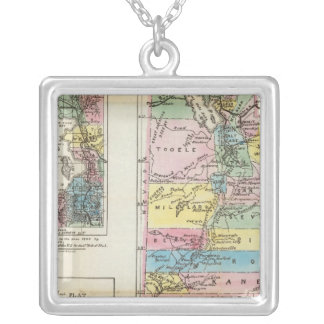 Map of the Territory of Utah Silver Plated Necklace