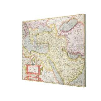 Map of the Turkish Empire, from the Mercator 'Atla Canvas Print