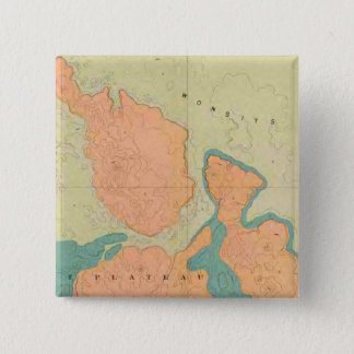 Map Of The Uinkaret Plateau 15 Cm Square Badge