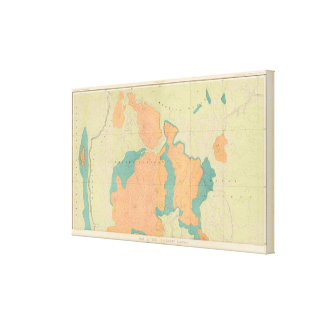 Map Of The Uinkaret Plateau Canvas Print