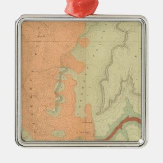Map Of The Uinkaret Plateau South Half Christmas Ornament