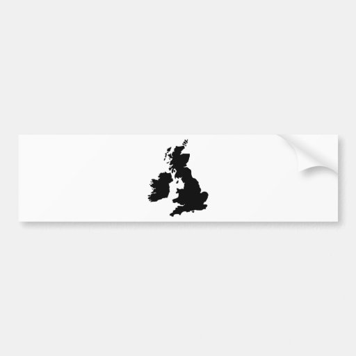 Map of the United Kingdom Bumper Sticker