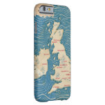 Map of the United Kingdom Vintage Poster Barely There iPhone 6 Case