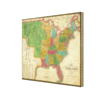 Map of the United States 2 Canvas Print