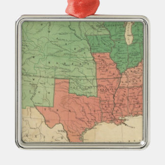 Map of The United States 2 Christmas Ornament