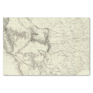 Map Of The United States 4 Tissue Paper