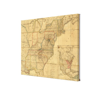 Map of the United States 5 Canvas Print