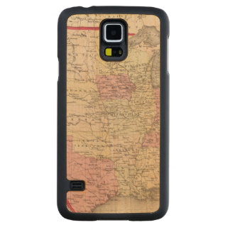 Map of the United States 5 Carved Maple Galaxy S5 Case