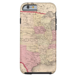 Map of the United States 5 Tough iPhone 6 Case