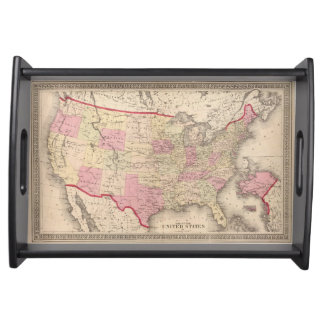 Map of the United States 5 Serving Tray