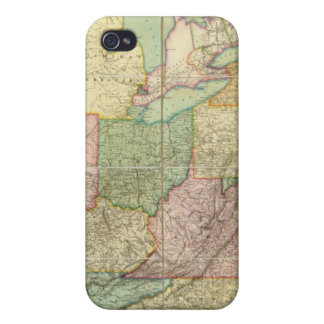 Map of the United States 6 iPhone 4 Case