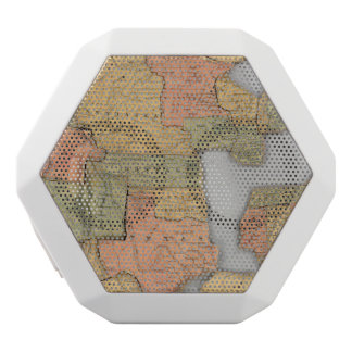 Map of the United States and Canada White Boombot Rex Bluetooth Speaker