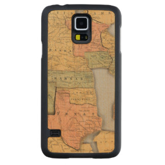 Map of the United States and Canada Carved Maple Galaxy S5 Case