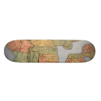 Map of the United States and Canada Custom Skate Board