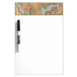 Map of the United States and Canada Dry Erase Whiteboard