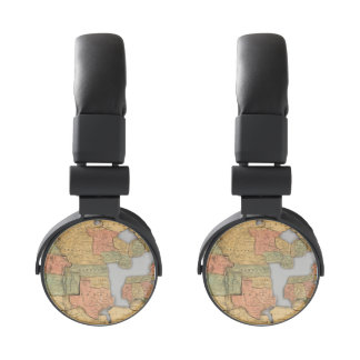 Map of the United States and Canada Headphones