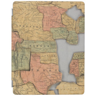 Map of the United States and Canada iPad Cover