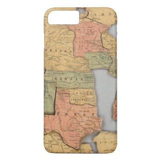 Map of the United States and Canada iPhone 8 Plus/7 Plus Case