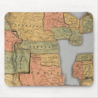 Map of the United States and Canada Mouse Mat
