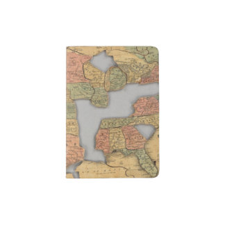 Map of the United States and Canada Passport Holder