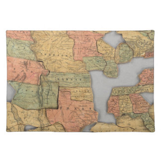 Map of the United States and Canada Placemat
