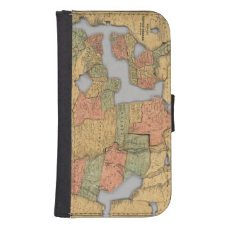 Map of the United States and Canada Samsung S4 Wallet Case