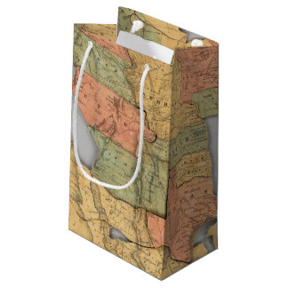 Map of the United States and Canada Small Gift Bag