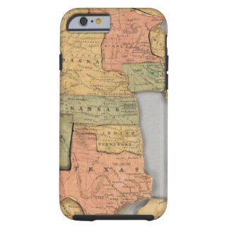 Map of the United States and Canada Tough iPhone 6 Case