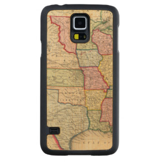 Map Of The United States, And Territories Carved Maple Galaxy S5 Case