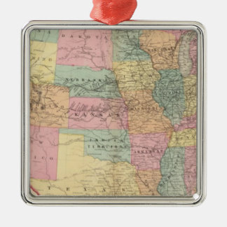Map of the United States and Territories Christmas Ornament