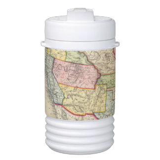 Map Of The United States, And Territories Drinks Cooler