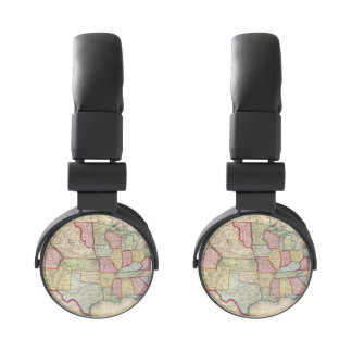 Map Of The United States, And Territories Headphones