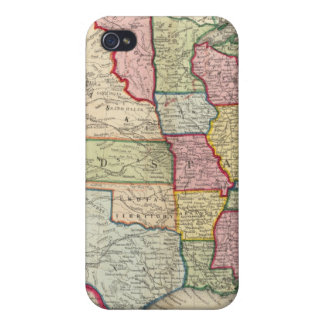 Map Of The United States, And Territories iPhone 4/4S Cover