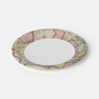 Map Of The United States, And Territories Paper Plate
