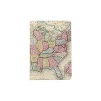 Map Of The United States, And Territories Passport Holder
