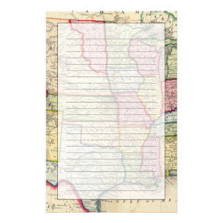 Map Of The United States, And Territories Personalized Stationery