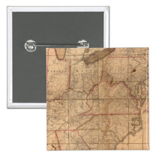 Map of the United States By Abraham Bradley Junior 15 Cm Square Badge