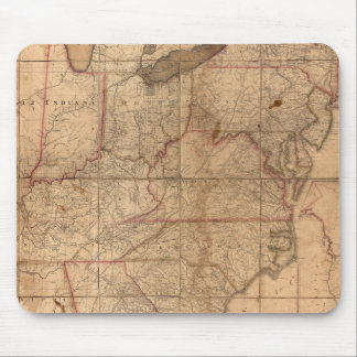 Map of the United States By Abraham Bradley Junior Mouse Mat