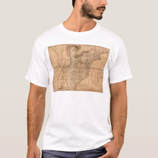Map of the United States By Abraham Bradley Junior T-Shirt