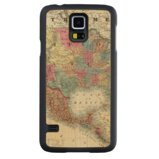 Map Of The United States, Canada, Mexico Carved Maple Galaxy S5 Case