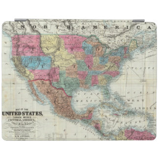 Map Of The United States, Canada, Mexico iPad Cover