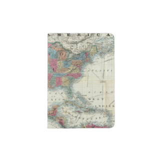Map Of The United States, Canada, Mexico Passport Holder