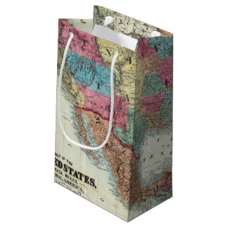 Map Of The United States, Canada, Mexico Small Gift Bag