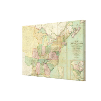 Map of the United States Canvas Print