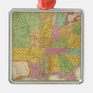 Map of The United States Christmas Ornament