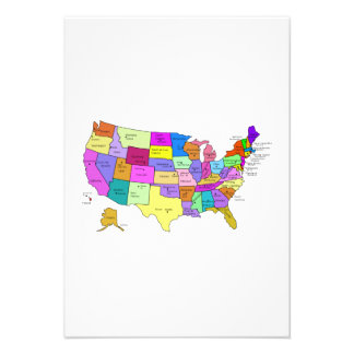 Map of the United States Invitations