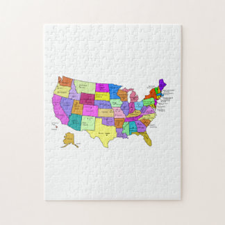 Map of the United States Jigsaw Puzzle