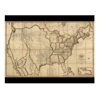 Map of the United States of America (1816) Postcard