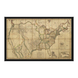 Map of the United States of America (1818) Canvas Prints