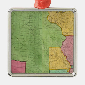 Map Of The United States Of America 1833 Christmas Ornament